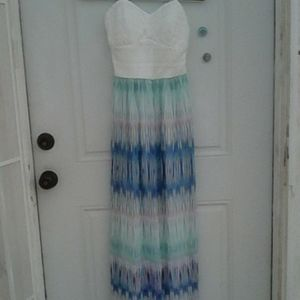 NWT****  LONG MULTI COLOR DRESS